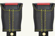 Yellow Stitch accoppiamenti LANCIA DELTA PRISMA 79-94 2x ANTERIORE Cintura di sicurezza in pelle copre