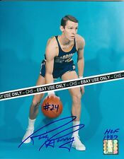 RICK BARRY SHARP!! SIGNED COLOR 8x10 PHOTO GOLDEN STATE WARRIORS H.O.F. 1987