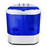 ZOKOP Portable Mini Washing Machine Twin Tub 10.4lb Washer Spin Dryer Dormitory