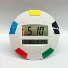 Big Digital DS-3888 Wall Clock Round Football Mix Colour Alarm MultiFunction LCD