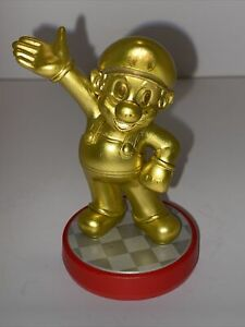 "Nintendo Amiibo Mario Mini Figure Gold Edition 3.25"" Tall"
