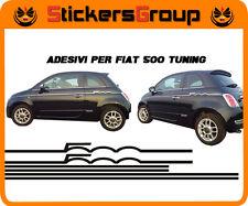 COPPIA ADESIVI STRISCE PER NUOVA FIAT 500 IN VINILE NEW TUNING