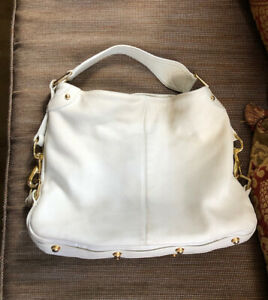 REBECCA MINKOFF white leather shoulder bag