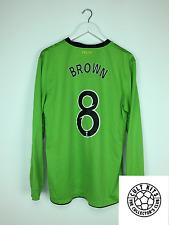 Celtic Brown #8 10/11 L/S Away Football Shirt (L) in jersey calcio Nike
