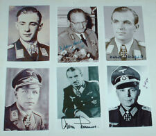 WW11 GERMAN OFFICERS SIGNED AUTOGRAPHS JOB LOT SET 10 6 X 4 PHOTOGRAPHS MILITARY