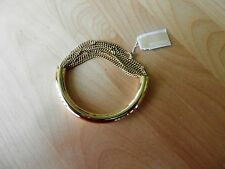 Michael Kors Authentic Gold-Tone Draped Chain Bangle Bracelet MSRP $115