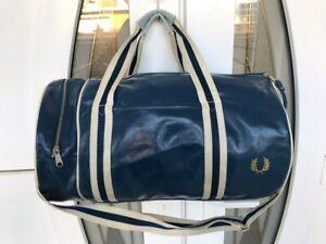 Vintage Fred Perry Shoulder Bag Duffel bag Blue / White