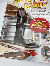 Handy Caddy Sliding Kitchen Under Cabinet Appliance Moving Caddy Nib Black