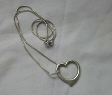 Sterling silver heart pendant and chain love gift