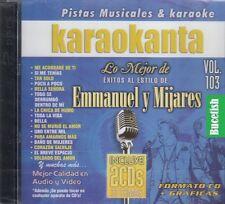 Emmanuel y Mijares Karaokanta Lo Mejor De Vol 103 2CD 37 Temas Karaoke New Nuevo