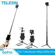 TELESIN 6 in 1 35 Inch Aluminum Alloy Selfie Stick Tripod Holder for GoPro Hero