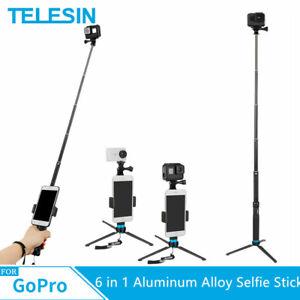 TELESIN 6 in 1 35 Inch Aluminum Alloy Selfie Stick Tripod Holder for GoPro Hero