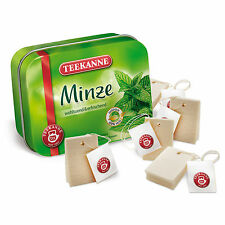 Wooden pretend role play food Erzi play kitchen shop: Mint Tea Bags in a tin