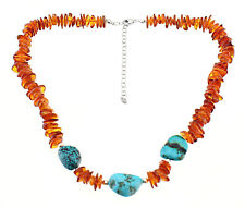 d3179033a4ddf Turquoise Amber Sterling Silver Fine Necklaces & Pendants for sale ...