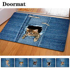 Blue Funny Room Entrance Doormat Bathroom Kitchen Indoor Anti-Slip Floor Mats