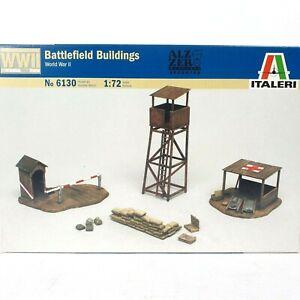 ITALERI 1/72 Scale Battlefield Buildings 6130 Model Kit World War II 72 Parts