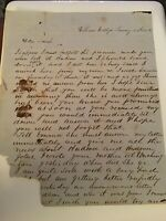 1852 Robert W McClellan 25th Congress Handwritten Letter NY Williams College