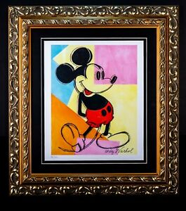 """Andy Warhol """"Mickey Mouse"""" Limited Edition Professionally Framed Lithographic"""
