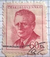 Czechoslovakia stamps - Antonín Novotný (1904-1975) 60 haler - FREE P & P