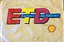 Vintage Shell Experience the Difference Flag from 1980's
