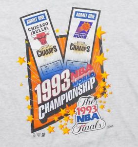 1993 NBA Finals Chicago Bulls Phoenix Suns T-Shirt Funny Black Cotton Tee Gift