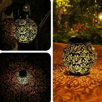 Solar LED Powered Morrocan Lantern Decorative Hanging Lamp Light Outdoor C6X7