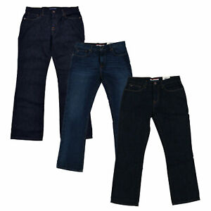 Tommy Hilfiger Mens Jeans Bootcut Denim Pants Casual Bottoms Dark Rinse Trousers