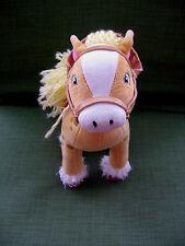 """Bandai 2004 Strawberry Shortcake Horse Named HoneyPie ,Saddle,Bridel 9"""" Plush"""