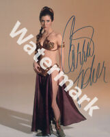 CARRIE FISHER SIGNED 10X8 PHOTO, CLASSIC STARWARS IMAGE, LOOKS GREAT FRAMED