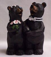Wedding Bear Bride & Groom Figurine / Cake Topper Home & Cabin Decor (NAP)