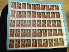 United States Scott 1363, the 6 cent  Christmas 1968 Angel sheet of 50  stamps