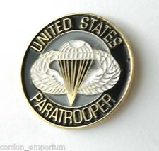 UNITED STATES ARMY US AIRBORNE PARA PARATROOPER LAPEL PIN BADGE 1 INCH