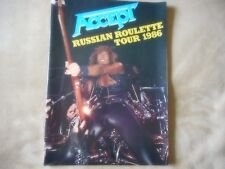 "ACCEPT ""RUSSIAN ROULETTE TOUR 1986"" TOUR BOOK 22 PAGES NEAR MINT"