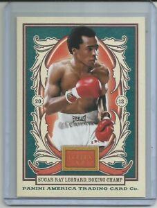 2013 Panini Golden Age SUGAR RAY LEONARD card # 112 Boxing Legend