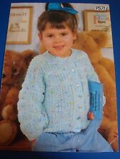 Peter Pan Per Bambini Cardigan Knitting Pattern P571