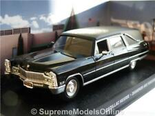 CADILLAC HEARSE FUNERAL MODEL CAR 1/43RD SCALE AMERICAN USA TYPE BLACK Y0675J^*^