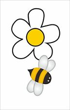 Bee Bumble Bee With Daisy Flower Sticker Decal 3M Car Window Bumper Decor