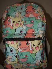New Pokemon Starter Pikachu Bulbasaur Squirtle Charmander Anime NES Backpack Bag
