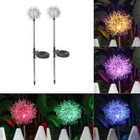1/2pcs Solar Meteor /Dandelion /Starburst Lights Outdoor Garden Xmas Decor Lamp