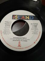 45 Record Malcolm McLaren Madam Butterfly  Very Good Free Shipping