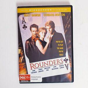 Rounders Movie DVD Region 4 AUS Free Postage - Thriller Drama Matt Damon