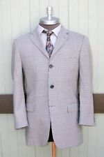Burberry London Nordstrom Bond Street 100% Wool Gray Three Button Blazer SZ 38R