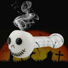 Glass Tobacco Pipe Halloween Portable Pipes Skeleton Head Collectible Smoking