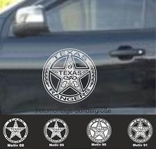 2x 28cm TEXAS RANGER Aufkleber  US Army Sterne Auto  Sterne Police Hauben  USA