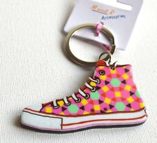 NEW Pink squares trainer keyring summer sneakers