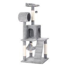 "51"" Pet Cat Tree Play Tower Bed Furniture Scratching Posts Choice of Color"