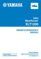 New Yamaha Waverunner XLT1200 2003 Owners Manual LIT-18626-05-17 Paperback
