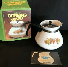 Corning Ware Spice Of Life Teapot P-104-8 6 Cup 30 oz Vintage New in open Box
