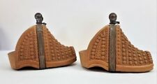 Collectable Equestrian Wood Carved Pair of Stirrups Gaucho Art South America