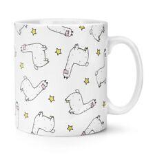 Llama Pattern 10oz Mug Cup - Funny Animal Alpaca Crazy Llama Lady Man